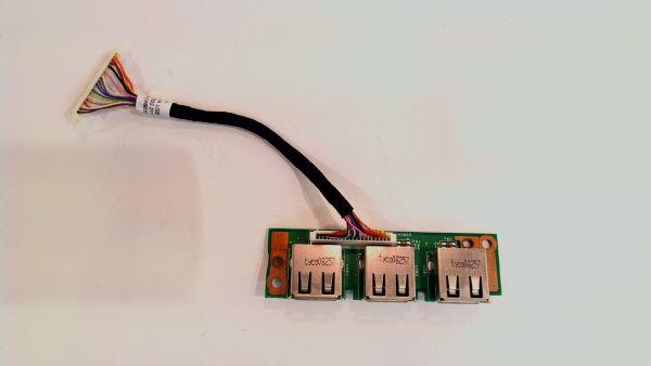 USB Board Platine Karte Notebook Buchse für Acer Extensa 5620 48.4T302.011 - gebraucht Artikel -