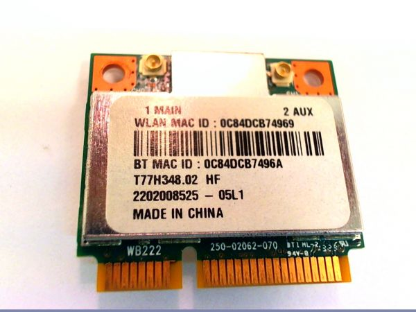Wireless Adapter Notebook WLAN Modul für Acer Aspire V3-571G Atheros AR5B22