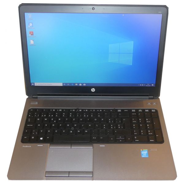"HP ProBook 650 G1 Notebook Intel Core i5-4300M CPU 2.60GHz 15,6"" 128GB 4GB Win 10 Pro gebraucht"