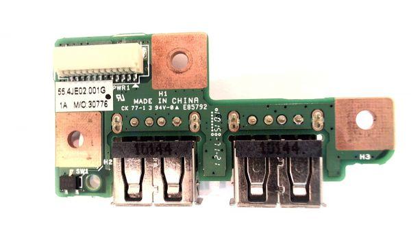 USB Board Platine Karte Notebook Buchse für Medion Akoya MD98360 55.4JE02.001G – gebraucht Artikel -