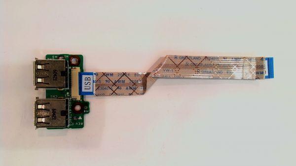 USB Board Platine Karte Notebook Buchse für HP dv5-1112eg DAQT6ATB8E0 - gebraucht Artikel -
