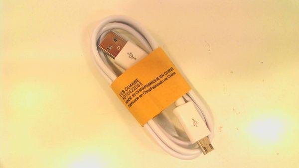 USB 2.0 Kabel A->Micro B, 3m S/S USB 2.0 Weiß