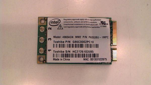 Wireless Adapter Notebook WLAN Modul für Toshiba Satellite A200-17O 4965AGN - gebraucht Artikel -