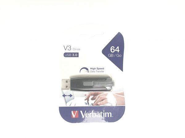 USB Stick 3.0 Verbatim V3 Drive 64GB Flash Store n go