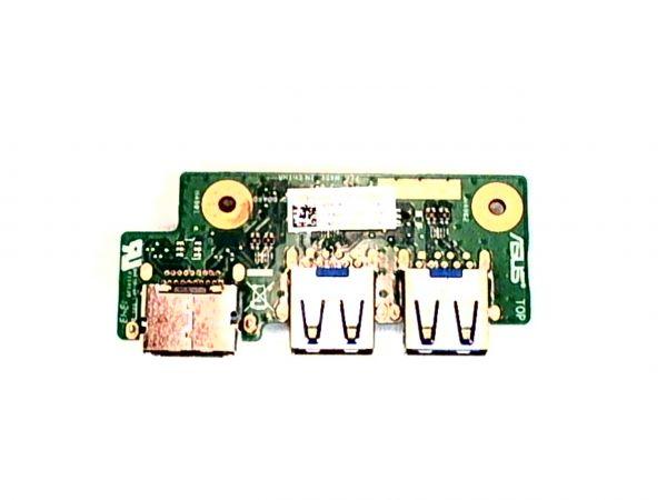 USB Board Platine Karte Notebook Buchse für Asus N56J - gebraucht Artikel -