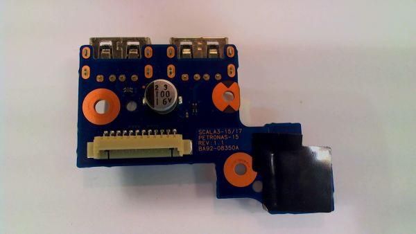 USB Board Platine Karte Notebook Buchse für Samsung NP-300E5A BA92-08350A - gebraucht Artikel -