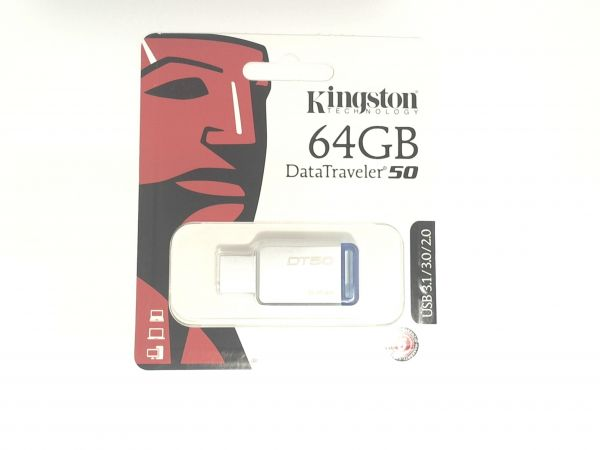 USB Stick 3.0 Kingston 64GB USB 3.0 DT-50 Blue