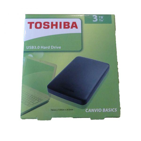 "3TB extern USB 3.0 Festplatte Toshiba HDTB330EK3CA 6,35cm(2,5"")"