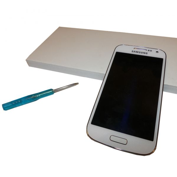 Samsung Galaxy S4 mini Display Kompletteinheit WEIß inklusive LCD+Touchscreen GT-I9195