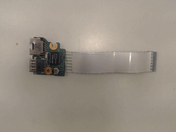 USB Board Platine Karte Notebook Buchse für HP Pavilion 17-e123sg DAOR65TB6DO - gebraucht Artikel -