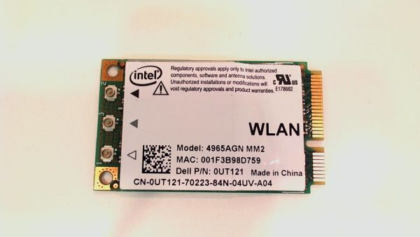Wireless Adapter Notebook WLAN Modul für Dell Inspiron 1720 Intel 4965AGN_MM2 - gebraucht Artikel -