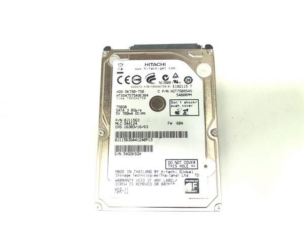 Notebook Festplatte Hitachi HTS547575A9E384 750GB, 6.35 cm (2,5 Zoll)