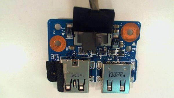 USB Board Platine Karte Notebook Buchse für HP Pavilion dv7 7100SG 48.4ST02.01 - gebraucht Artikel -
