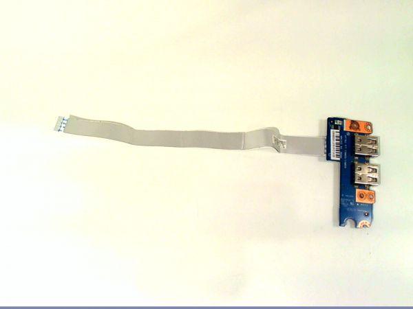 USB Board Platine Karte Notebook Buchse für Acer Aspire V3-571G NBX0000V800 - gebraucht Artikel -