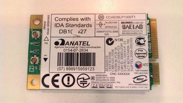 Wireless Adapter Notebook WLAN Modul für HP Pavilion dv5-1110eg Atheros AR5BXB63 - gebraucht Artikel