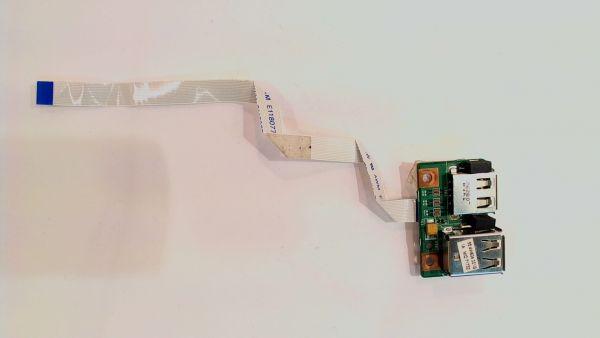 USB Board Platine Karte Notebook Buchse für Medion Akoya MD 96970 48.4W605.011 - gebraucht Artikel -