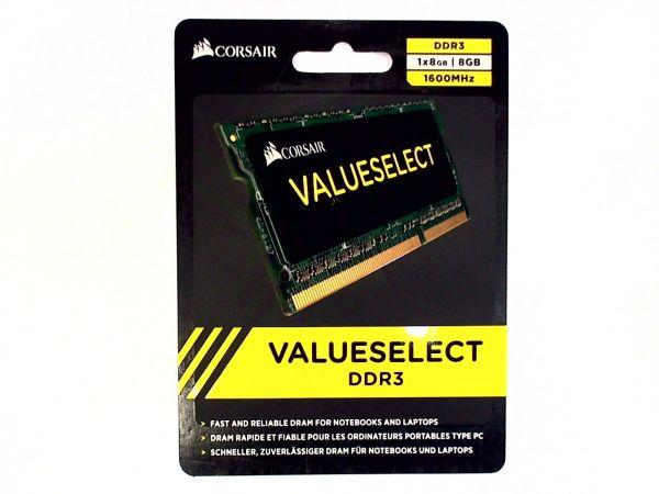 8GB Corsair SO-DIMM DDR3 1600MHz 1,5 Speicher CMSO8GX3M1A1600C11
