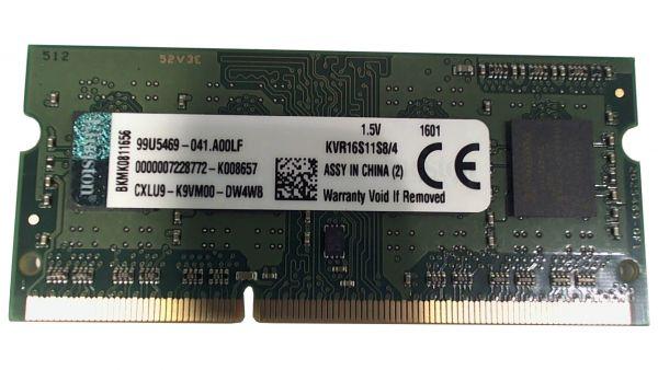 4GB Kingston SO-DIMM DDR3/1600MHz 1.50V Speicher KVR16S11S8/4