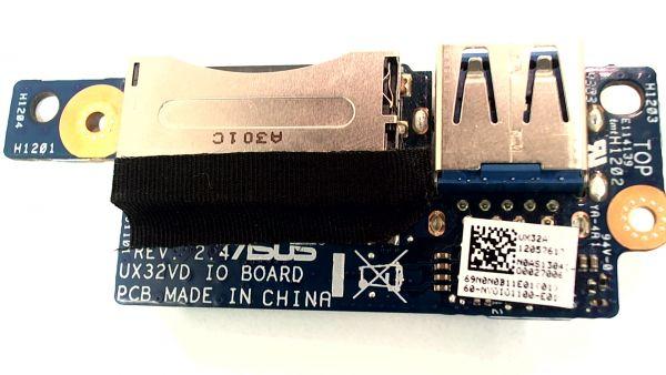 USB Board Platine Karte Notebook Buchse für Asus UX32A - gebraucht Artikel -