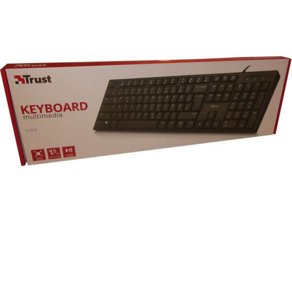 USB Tastatur Trust Vida Mulitmedia DE
