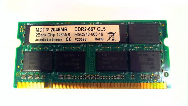 2048MB 2GB MDT DDR2-667 CL5 SO-Dimm Arbeitsspeicher Lenovo Thinkpad Type 8918 MSO948-665-16
