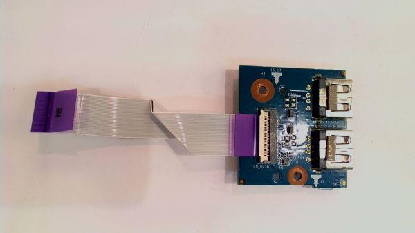 USB Board Platine Karte Notebook Buchse für HP dv6-6b15eg HPMH-41-AB630S-C00G - gebraucht Artikel -