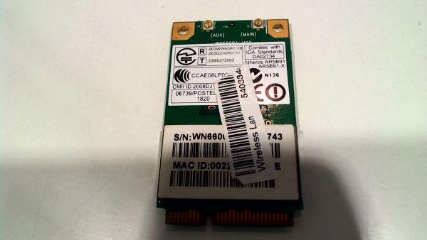 Wireless Adapter Notebook WLAN Modul Acer Aspire 5536G Atheros AR5B91 – gebraucht Artikel -