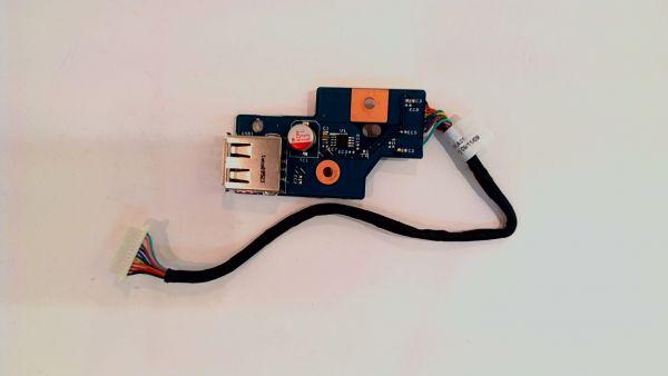 USB Board Platine Karte Notebook Buchse für Acer Aspire 7736ZG 48.4fx02.011 - gebraucht Artikel -