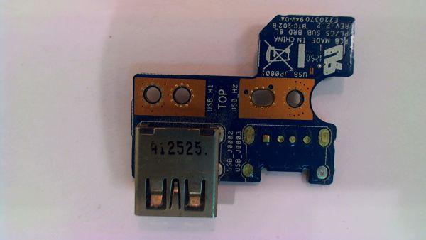 USB Board Platine Karte Notebook Buchse für Toshiba Satellite L850-1VR - gebraucht Artikel -