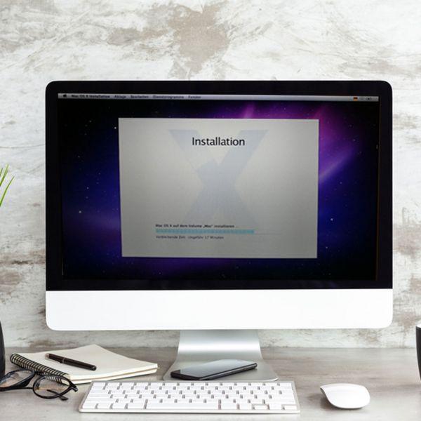 Installation Betriebssystem(OSX) inkl. Updates für iMac