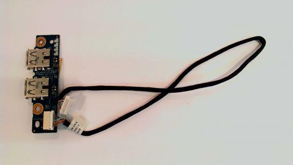 USB Board Platine Karte Notebook Buchse für HP Pavilion dv7 LS-4082P - gebraucht Artikel -