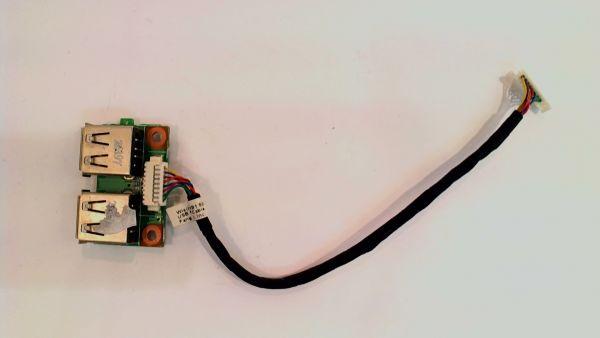 USB Board Platine Karte Notebook Buchse für Medion MD97900 48.4Q102.011 - gebraucht Artikel -