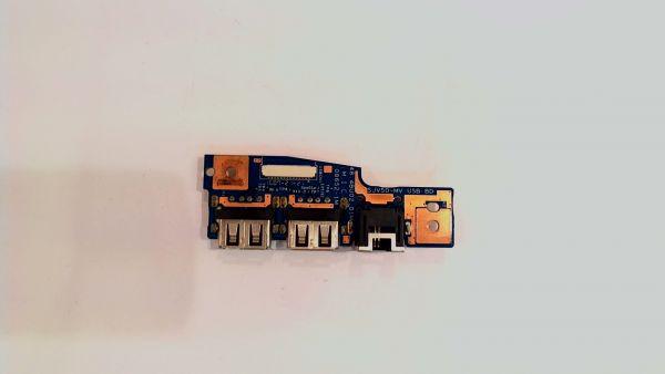 USB Board Platine Karte Notebook Buchse für Packard Bell TJ71 48.4bu02.01m - gebraucht Artikel -