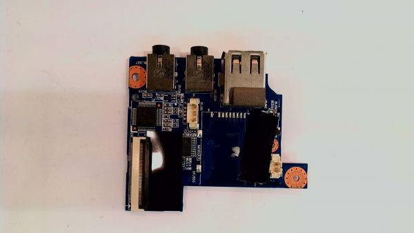 USB Board Platine Karte Notebook Buchse für Medion Akoya MD97195 E227809 - gebraucht Artikel -