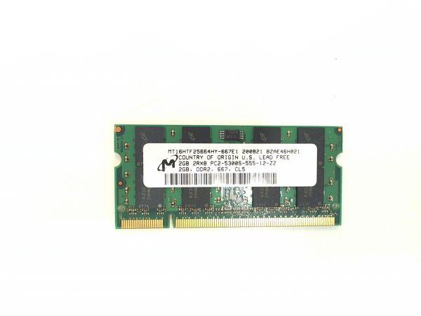 2048MB 2GB Micron DDR2 667 SO-Dimm Arbeitsspeicher MT16HTF25664HY-667E1 stammt aus einem Toshiba