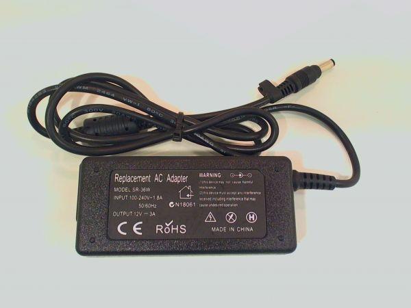 Netzteil für Acer Notebook 12V 3A 36W Ladegerät