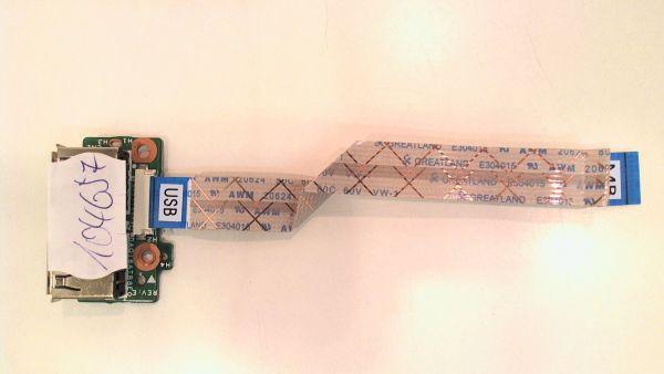 USB Board Platine Karte Notebook Buchse für HP Pavilion dv5-1110eg 34QT6UB0010 - gebraucht Artikel -