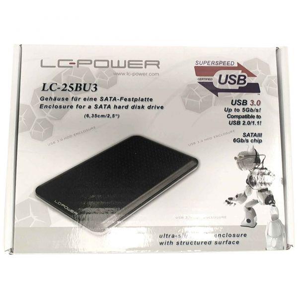 LC-POWER 6,35cm(2,5) Pro25BUB3 SATA ultraslim schwarz