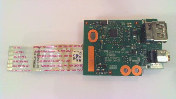 USB Board Platine Karte Notebook Buchse für HP ProBook 6555b - gebraucht Artikel -