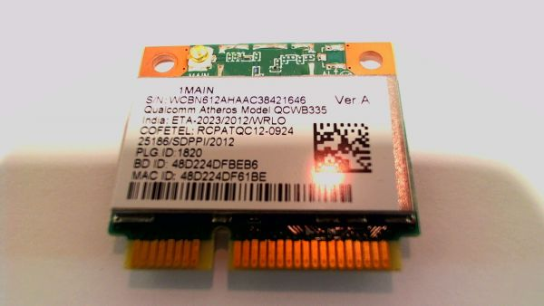 Wireless Adapter Notebook WLAN Modul für Packard Bell TE QCWB335 - gebraucht Artikel -