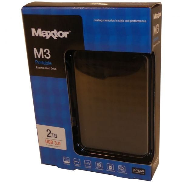 "2TB extern USB 3.0 Festplatte Maxtor M3 STSHX-M201TCBM 6,35cm(2,5"")"